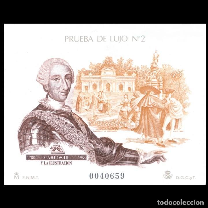 ESPAÑA 1988. PRUEBA 17 -LUJO 2- CARLOS III Y LA ILUSTRACIÓN. NUEVO** MNH. LEER (Sellos - España - Pruebas y Minipliegos)