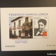 Sellos: 1998-ESPAÑA PRUEBA OFICIAL 65 CENTENARIO GARCÍA LORCA. Lote 194776247