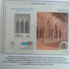 Sellos: ESPAÑA SELLOS PRUEBA LUJO Nº 15 HOJA Nº 72 1999 EXFILNA 99 ZARAGOZA. Lote 195105416