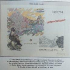 Sellos: ESPAÑA SELLOS PRUEBA ARTISTA HOJA Nº 73 1999 MONFRAGÜE. Lote 195105688