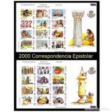 Sellos: ESPAÑA 2000. EDIFIL 3732-55 3755. MP 73-74. CORRESPONDENCIA ESPISTOLAR ESCOLAR. NUEVO** MNH. Lote 195144498