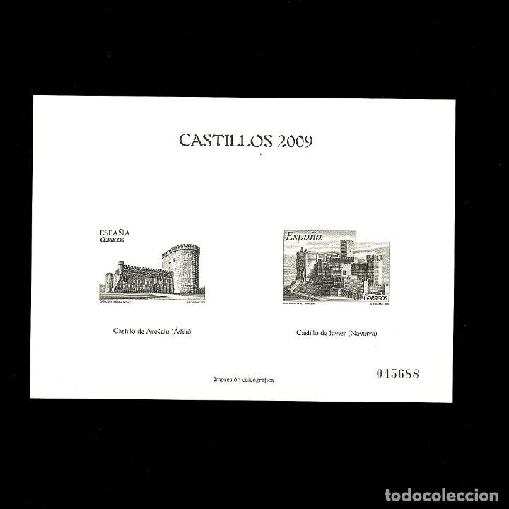 4510P CASTILLOS 2009 (Sellos - España - Pruebas y Minipliegos)