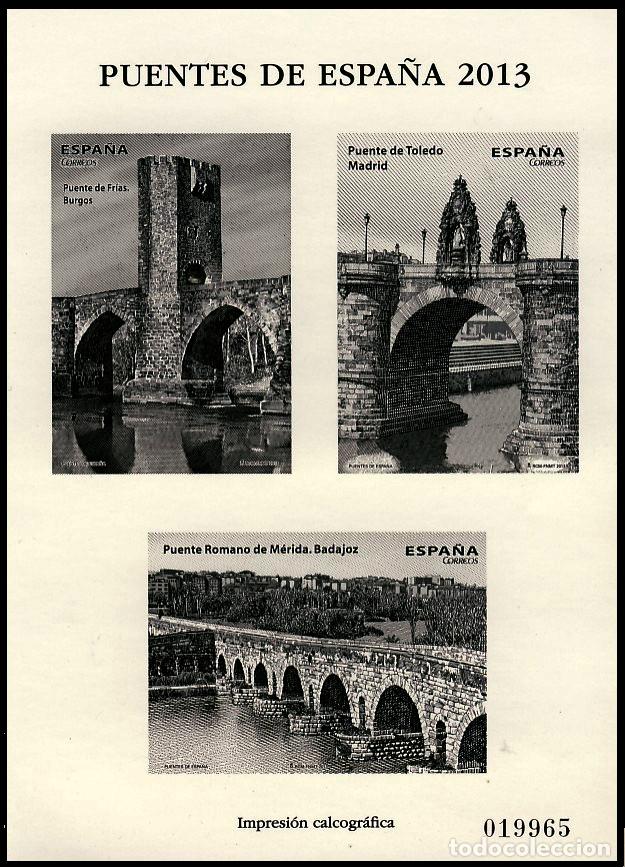 4803P PUENTES 2013 (Sellos - España - Pruebas y Minipliegos)
