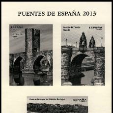 Sellos: 4803P PUENTES 2013. Lote 195387327