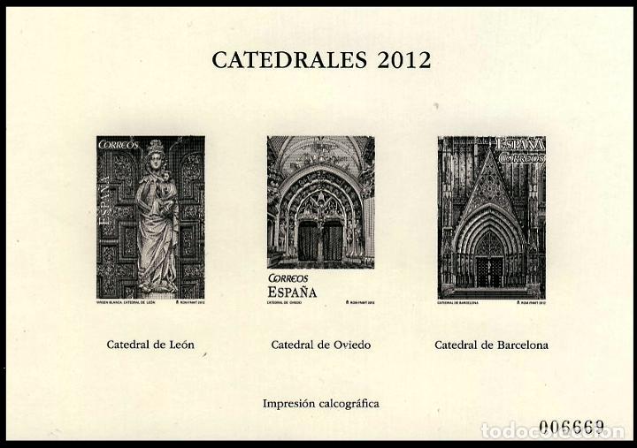 4747P CATEDRALES 2012 (Sellos - España - Pruebas y Minipliegos)