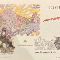 Timbres: PRUEBA DE ARTISTA Nº 69. ESPAÑA 1999. MONFRAGÜE. NUEVO. Lote 196782820