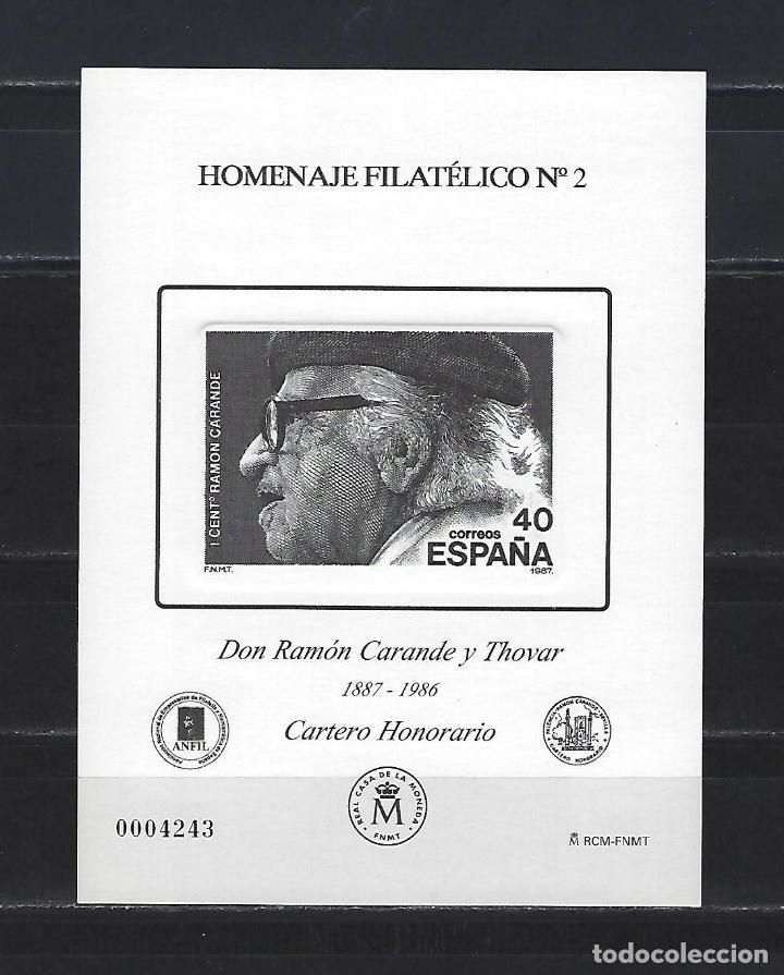 HOMENAJE FILATELICO 2 PRUEBA RAMON CARANDE 2006 2880/84 BUEN ESTADO (Sellos - España - Pruebas y Minipliegos)