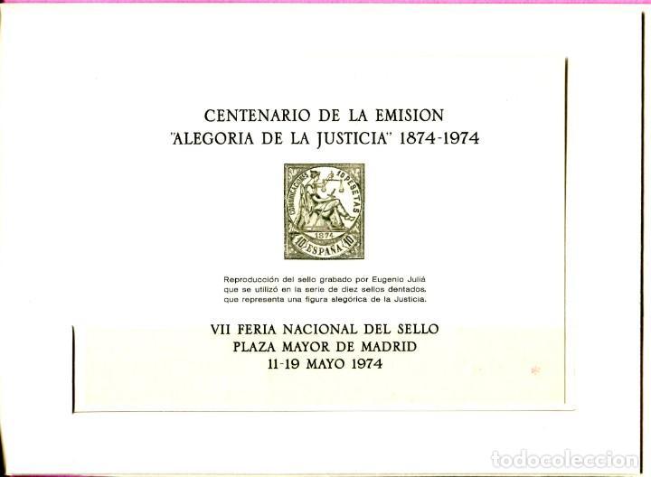 Sellos: ESPAÑA 1974- (Documento Filatelico)-FNMT VII Feria nacional del Sello (11-19-MAY) Madrid - Foto 2 - 198891897