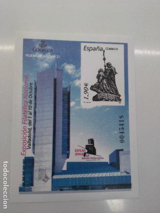 PRUEBA OFICIAL 84 PRUEBA LUJO Nº 21 EXFILNA VALLADOLID AÑO 2004 (Sellos - España - Pruebas y Minipliegos)