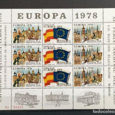 Sellos: HOJA MUESTRA EUROPA 1978 EXPOSICIÓN XI FERIA NACIONAL DEL SELLO RARA. Lote 200854738