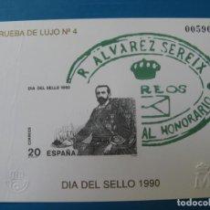 Sellos: 1990, PRUEBA DELUJO Nº 4, DIA DEL SELLO, EDIFIL 20. Lote 203238761