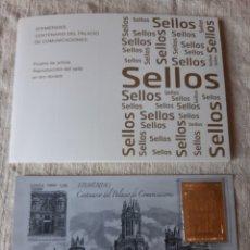 Sellos: 3919 SELLO ORO CERTIFICADO PALACIO TELECOMUNICACIONES MADRID 300 FILATELIA COLISEVM. Lote 204531311