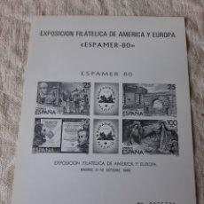 Sellos: 1980 PRUEBA OFICIAL EDIFIL 3 ESPAMER MADRID FILATELIA COLISEVM. Lote 205234477