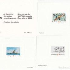 Sellos: BARCELONA 92 - PRUEBAS ARTISTA 6 EMISIÓN SELLOS PREOLIMPICOS. Lote 205566465