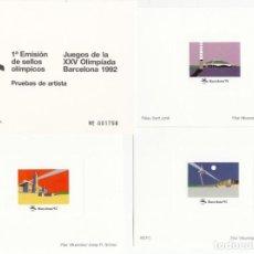 Sellos: BARCELONA 92 - PRUEBAS ARTISTA 1 A EMISIÓN SELLOS OLIMPICOS. Lote 205566815