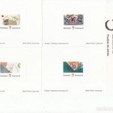 Sellos: BARCELONA 92 - PRUEBAS ARTISTA JUEGOS PARALIMPICOS. Lote 205567272
