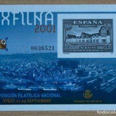 Sellos: PRUEBA OFICIAL Nº 75-EXPOSICION FILATELICA NACIONAL EXFILMA 2001-VIGO. Lote 206265762