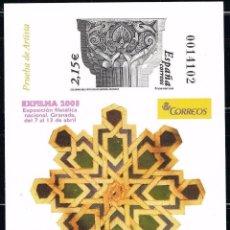 Selos: PRUEBA OFICIAL EDIFIL 80. 2003. NUEVA SIN CHARNELA. EXFILNA 2003 (220-6). Lote 206284890