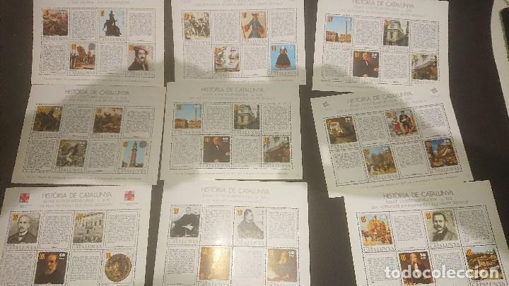 Sellos: 29 HOJAS HISTORIA DE CATALUÑA, DISTINTA NUMERACION . LEER DESCRIPCION - Foto 2 - 206886761