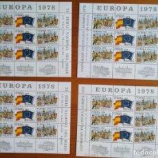 Sellos: MINIPLIEGOS EUROPA 1978. Lote 209724293