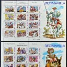Sellos: ESPAÑA, SPAIN, AÑO 1998, EDIFIL 3560/83, CORRESPONDENCIA EPISTOLAR, MINIPLIEGO, MP61A/61B, CATALOGO. Lote 210589411