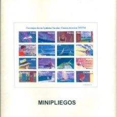 Francobolli: LOTE 90 MINIPLIEGOS REFLEJADOS EN EDIFIL DEL Nº1 AL 86, MAS 10 MINIPLIEGOS SELLOS ADHESIVOS AÑO 2008. Lote 210672452