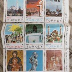 Sellos: 9 SELLOS - VIÑETAS COLECCIÓN COMPLETA TURKEI - TURQUÍA - MUY GRANDES - DE COLECCIONISTA. Lote 211563900