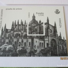 Timbres: ESPAÑA 2010. CATEDRAL DE SEGOVIA. PRUEBA DE ARTISTA. VALOR EDIFIL 14 EUR.. Lote 212428236