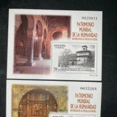 Timbres: 2 HOJAS PATRIMONIO MUNDIAL DE LA HUMANIDAD. LA RIOJA 1999. NUEVOS. Lote 213757182
