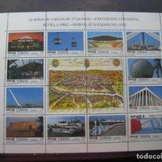 Sellos: -1992, PAREJA DE MINIPLIEGOSEXPOSICION UNIVERSAL DE SEVILLA EXPO92, EDIFIL MP42A Y B. Lote 214244495