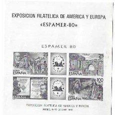 Sellos: 1980. PRUEBA 3 ESPAMER 80.. Lote 215880727