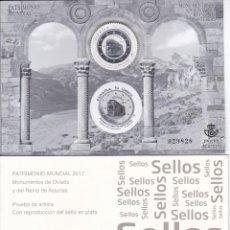 Sellos: Nº 131 PRUEBA DE ARTISTA DE MONUMENTOS DE OVIEDO Y REINO ASTURIAS CON SELLO DE PLATA. Lote 215935043