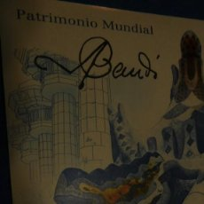 Sellos: MINIPLIEGO DE PATRIMONIO MUNDIAL, PARQUE GUELL DE BARCELONA. Lote 220621972