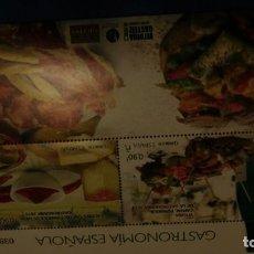 Sellos: MINIPLIEGO DE GASTRONOMIA ESPAÑOLA. Lote 220701165