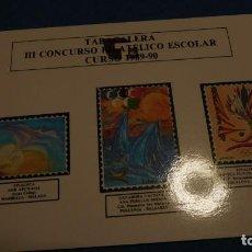 Sellos: MINIPLIEGO DE III CONCURSO FILATÉLICO ESCOLAR. 1989 1990. Lote 220701767