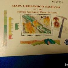 Sellos: HOJA BLOQUE, MAPA GEOLÓGICO Y MINERO DE ESPAÑA.. Lote 221975631