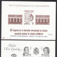Sellos: ESPAÑA, 1984 EDIFIL Nº 6 / 7, EXPOSICIÓN MUNDIAL DE FILATELIA, ESPAÑA 84, MADRID. MISMA NUMERACIÓN.. Lote 222111458