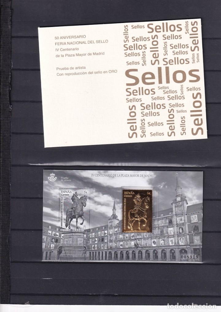 SELLOS ESPAÑA OFERTA PRUEBA DE LUJO Nº 137 VALOR DE CATALOGO 48€ CON CARPETILLA ORIGINAL (Sellos - España - Pruebas y Minipliegos)