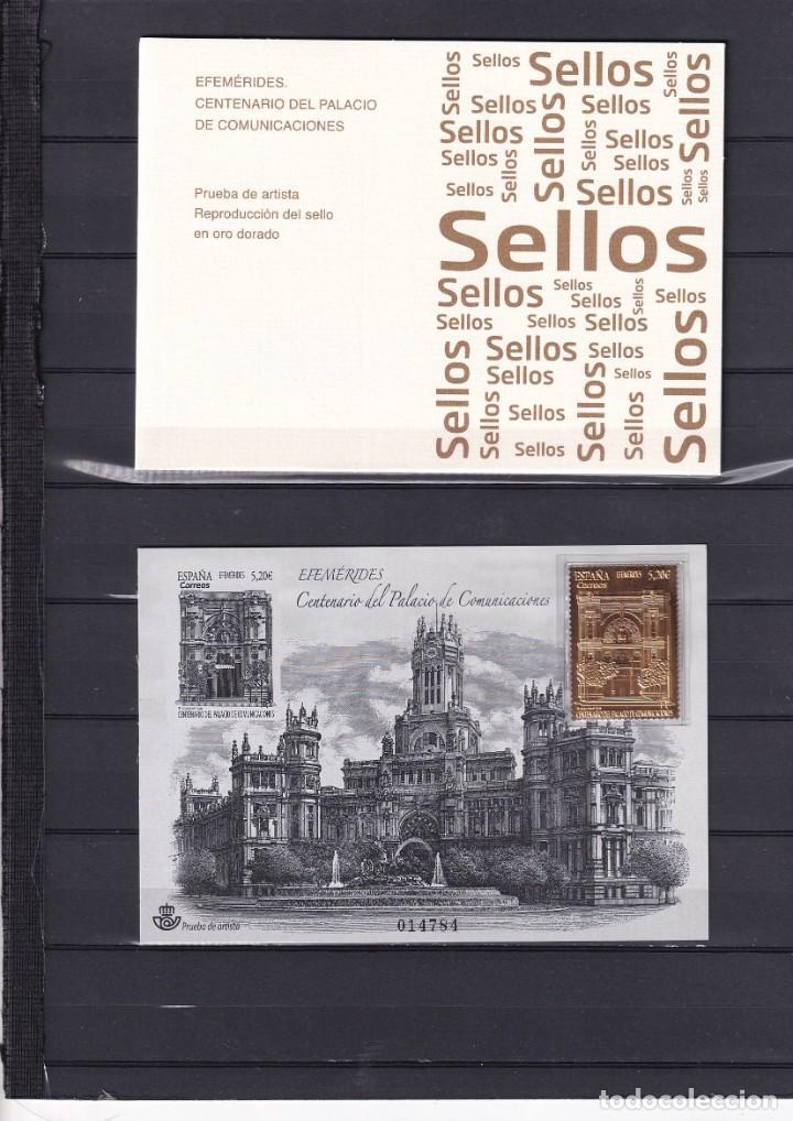 SELLOS ESPAÑA OFERTA PRUEBA DE LUJO Nº 143 VALOR DE CATALOGO 42€ CON CARPETILLA ORIGINAL (Sellos - España - Pruebas y Minipliegos)