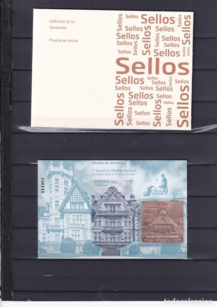 SELLOS ESPAÑA OFERTA PRUEBA DE LUJO Nº 145 VALOR DE CATALOGO 48€ CON CARPETILLA ORIGINAL (Sellos - España - Pruebas y Minipliegos)