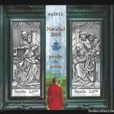 Francobolli: PRUEBA OFICIAL CORREOS DE ESPAÑA – EDIFIL Nº 100 - 2009 NAVIDAD. Lote 224313941