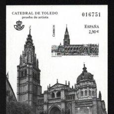 Francobolli: PRUEBA OFICIAL CORREOS DE ESPAÑA – EDIFIL Nº 108 - 2012 CATEDRAL DE TOLEDO. Lote 224314263