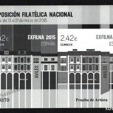 Sellos: PRUEBA OFICIAL CORREOS DE ESPAÑA – EDIFIL Nº 121 - 2015 EXFILNA - EXPOSICIÓN FILATÉLICA NACIONAL, AV. Lote 296831528