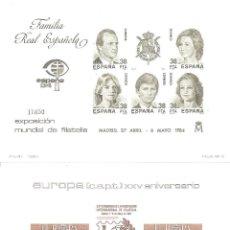 Sellos: PRUEBAS OFICIALES EDIFIL Nº 6 Y 7, ESPAÑA 84-EUROPA 84 -SIN CHARNELA-. Lote 224510172