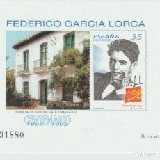 Selos: ESPAÑA. PRUEBA OFICIAL Nº 65. CENTENARIO DE GARCÍA LORCA. NUEVA. Lote 226804770