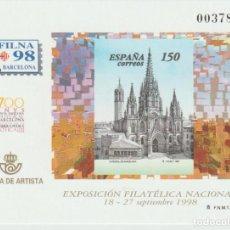 """Selos: ESPAÑA. PRUEBA OFICIAL Nº 66. """"EXFILNA'98"""". NUEVA. Lote 226805470"""
