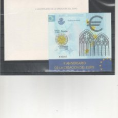 Timbres: ESPAÑA- HOJA PRUEBA Nº 98 X ANIVERSARIO CREACIÓN DEL EURO (SEGUN FOTO). Lote 229620200
