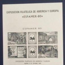 Francobolli: 1980-ESPAÑA PRUEBA OFICIAL Nº 3 EXPAMER 80 EXPOSICIÓN FILATÉLICA DE AMÉRICA Y EUROPA.. Lote 272283018