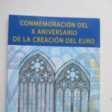Sellos: ER * PACK PRUEBA ESPECIAL CONMEMORACION DEL X ANIVERSARIO DE LA CREACION DEL EURO. Lote 231042085