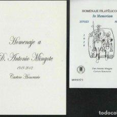 Sellos: ESPAÑA 2012 HOMENAJE FILATELICO 8A EDIFIL ANTONIO MINGOTE IN MEMORIAM. Lote 232109760